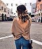 Женский двухсторонний свитер с переплётом в расцветках. Ф-9-1218, фото 2