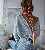 Женский двухсторонний свитер с переплётом в расцветках. Ф-9-1218, фото 5