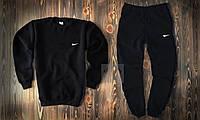 Зимний мужской спортивный костюм Nike черного цвета