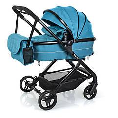 Детская универсальная коляска Bambi M 3895-12 бирюза