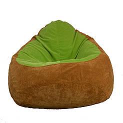 Бескаркасное кресло мешок Флок PufOn, L, Светло-коричневый, Яблочный