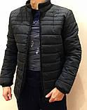 Зимняя  мужская куртка  черная  стеганная, фото 2