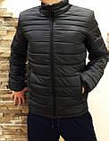 Зимняя  мужская куртка  черная  стеганная, фото 4