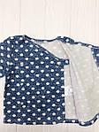 """Детский набор из двух предметов распашонка с штанишками"""" Горошек на синем"""", фото 3"""