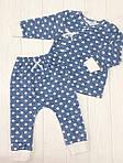 """Детский набор из двух предметов распашонка с штанишками"""" Горошек на синем"""", фото 4"""