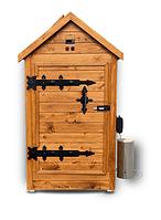 Деревянная коптильня холодного и горячего копчения Смакуй Классик 1,5 (530х530х1500 мм), фото 1