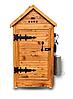 Деревянная коптильня холодного и горячего копчения Смакуй Семейная 1,5 (430х430х1150 мм)