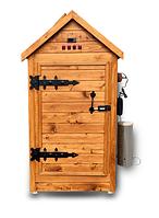Деревянная коптильня холодного и горячего копчения Смакуй Семейная 1,5 (430х430х1150 мм), фото 1