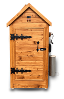Деревянная коптильня холодного и горячего копчения Смакуй Биг 1,5 (750х750х1500 мм), фото 1
