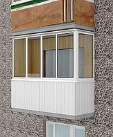 Остекление П-образного балкона, REHAU-60.