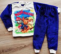 Детская тёплая пижама из рваной махры велсофт