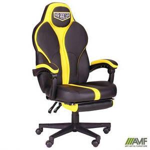 Кресло VR Racer Edge Throne черный/желтый TM AMF