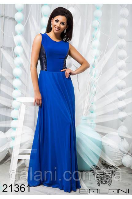55664a680e0 Платье Вечернее Стильное в Пол Синее Шифоновое — в Категории