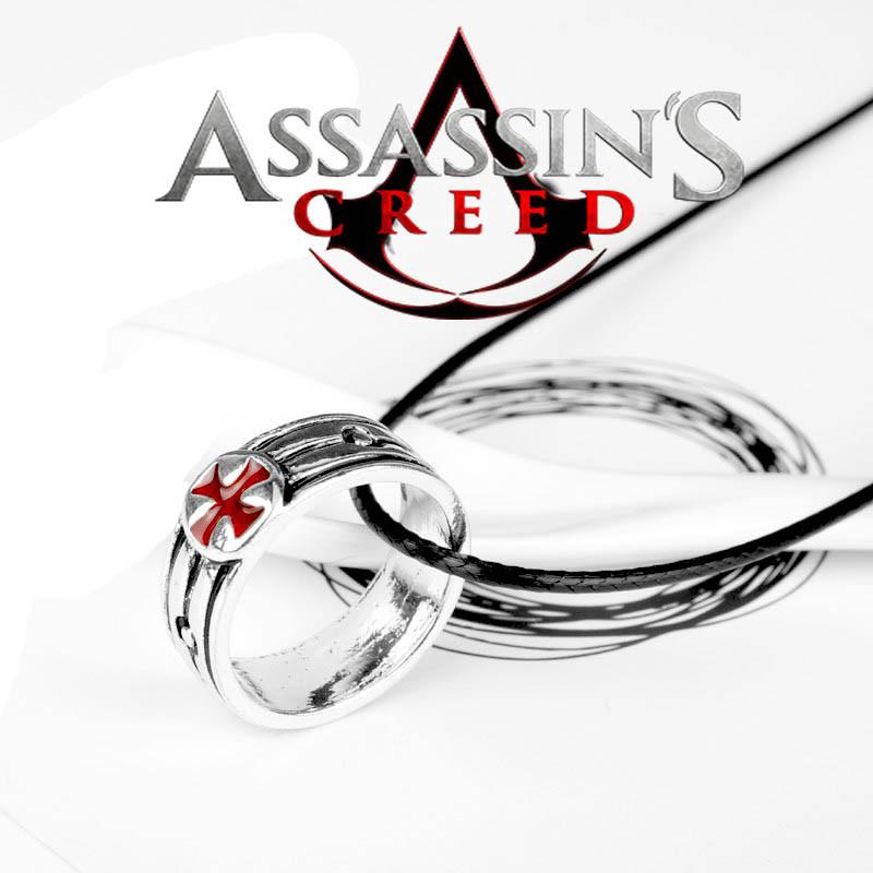Кулон кольцо Крест Тамплиеров Кредо Ассасина Assassins Creed