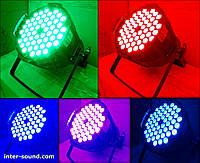 Прожектор заливочного света Led Par 54*3 3в1 RGB(W)