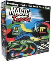 Magic tracks 165 деталей гибкая автомобильная гоночная трасса Меджик Трек игрушка автотрек светящаяся дорога