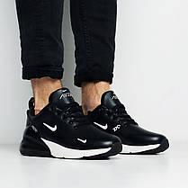 Зимние мужские кроссовки Nike Air Max 270 Winter Black White топ реплика, фото 3