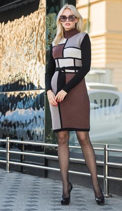 Зимние теплое платье  - Кубик, фото 2