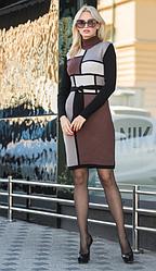 Зимние теплое платье  - Кубик