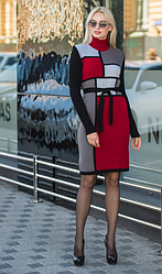 Вязаное платье зима - Кубик