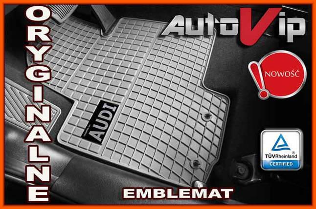 Резиновые коврики AUDI A6 S6 2011- серые с лого, фото 2
