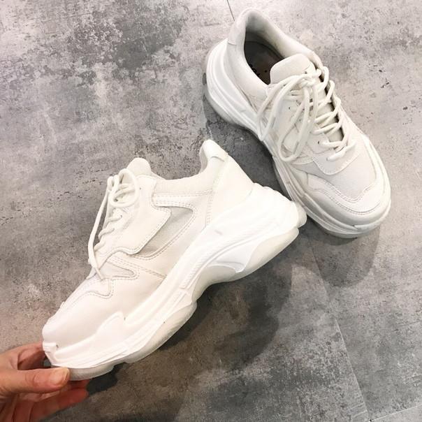 309d78a53 Заказать Белые женские кроссовки на высокой подошве дешево ...