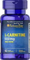 Жиросжигатель Puritan's Pride L-Carnitine 500 mg 60 caplets