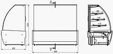 Витрина для кондитерских изделий Juka VDL158, фото 3