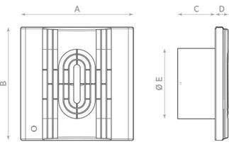 Габаритные размеры осевого вентилятора O.ERRE IN