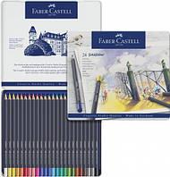 Набор цветных карандашей Faber Castell Goldfaber 24 цвета в металлической коробке (114724)