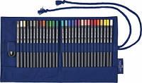 Набор цветных карандашей Faber Castell Goldfaber 28 цветов + кисть + точилка в тканевом рулоне (114752)