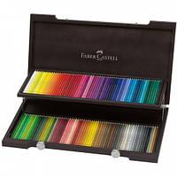 Набор цветных карандашей Faber Castell POLYCHROMOS 120 цветов ДЕРЕВЯННАЯ КОРОБКА (110013)