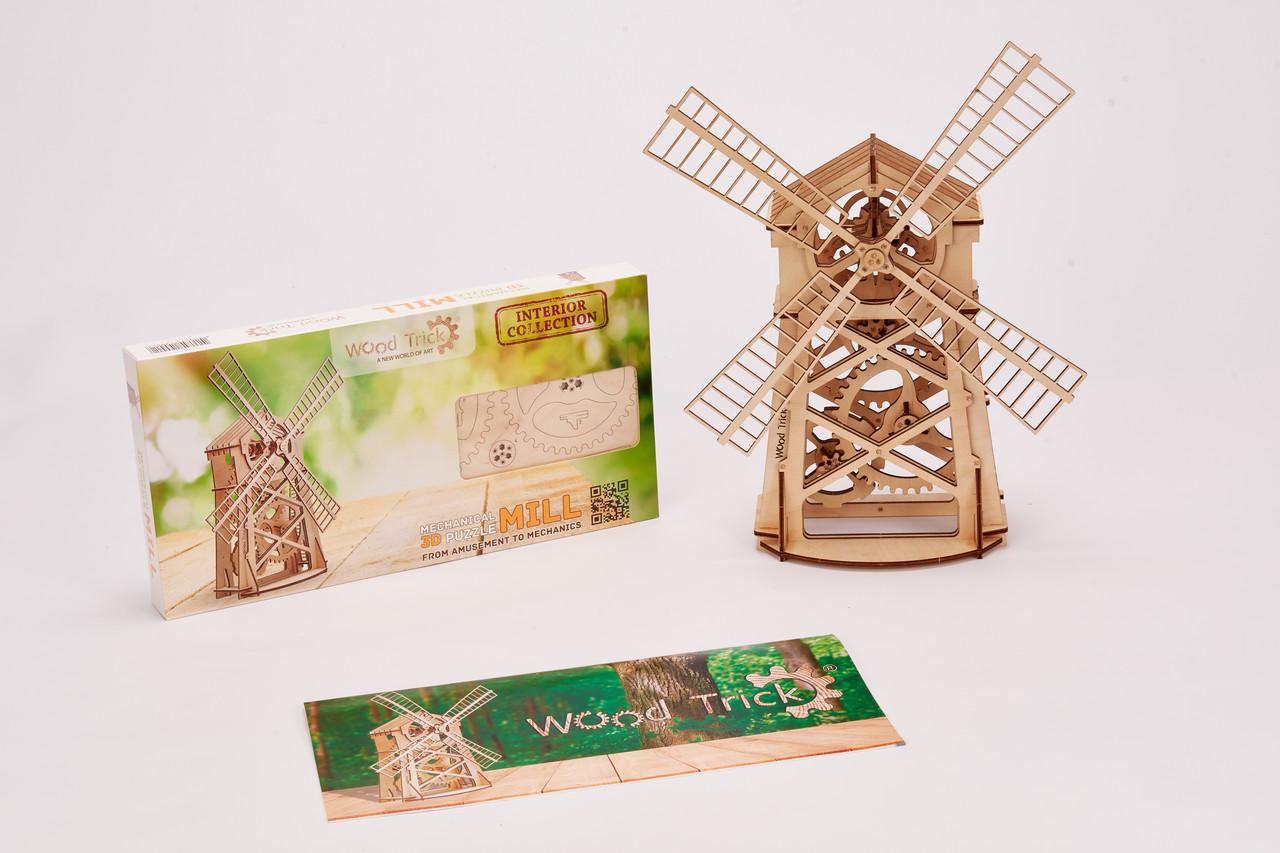 Конструктор  деревянный Мельница. Wood trick пазл. 100% ГАРАНТИЯ КАЧЕСТВА!!! (Опт,дропшиппинг)