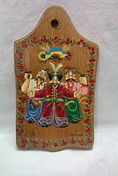 Декоративна дощечка з розписом Козаки