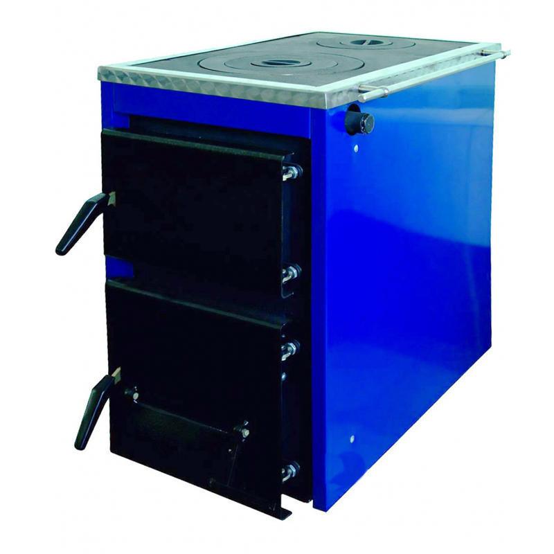 Твердотопливный комбинированный котел с плитой на две конфорки Корди АКТВ 16 кВт