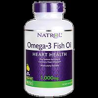 Комплекс незамінних жирних кислот Natrol Omega 3 Fish Oil (150 капс) (102706) Фірмовий товар!