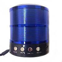 Портативная bluetooth колонка MP3 WS-887 синяя, фото 1
