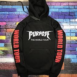 Толстовка Purpose The World Tour Hoodie | худи пурпус | кенгурушка стафф