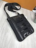 Модная сумка планшетка Bikkembergs черная Люкс Качество женская сумка через плечо Трендовая Биккемберг реплика, фото 2