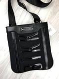 Модная сумка планшетка Bikkembergs черная Люкс Качество женская сумка через плечо Трендовая Биккемберг реплика, фото 3
