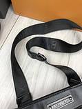 Модная сумка планшетка Bikkembergs черная Люкс Качество женская сумка через плечо Трендовая Биккемберг реплика, фото 5