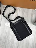 Модная сумка планшетка Bikkembergs черная Люкс Качество женская сумка через плечо Трендовая Биккемберг реплика, фото 6