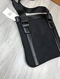 Модная сумка планшетка Bikkembergs черная Люкс Качество женская сумка через плечо Трендовая Биккемберг реплика, фото 7