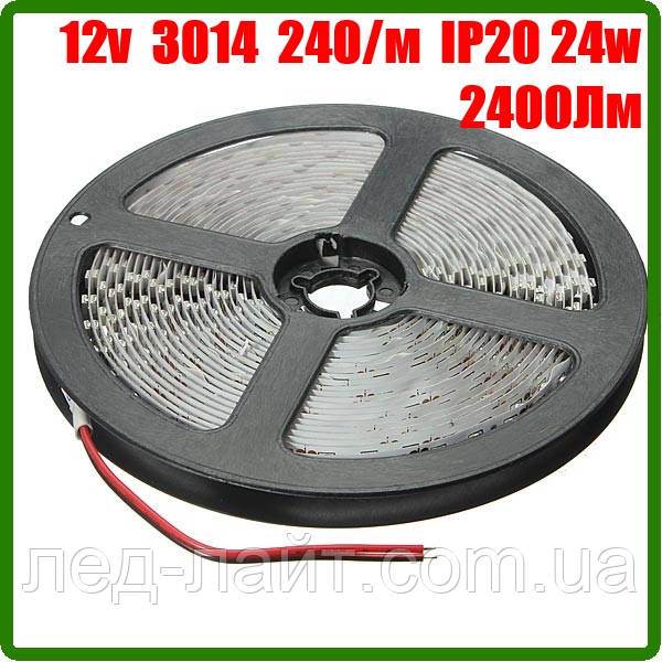 Светодиодная лента 12В 3014 (240LED/м) IP20