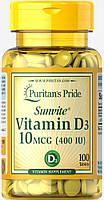 Puritan's Pride Vitamin D3 400 IU 100 tablets, Витамин Д3 400 100 таб