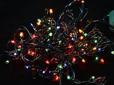 Электрогирлянда, 100 микроламп, многоцветная,  5 м., 8 реж.мигания, зел.провод., фото 3