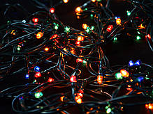 Электрогирлянда, 100 микроламп, многоцветная,  5 м., 8 реж.мигания, зел.провод., фото 2