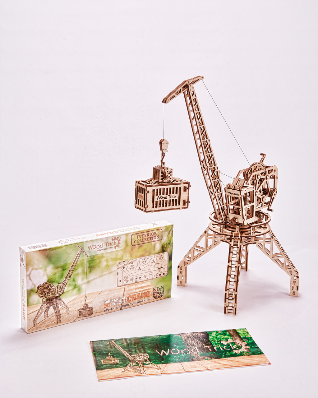 Конструктор деревянный Кран  3D. Wood trick пазл. 100% ГАРАНТИЯ КАЧЕСТВА!!! (Опт,дропшиппинг)