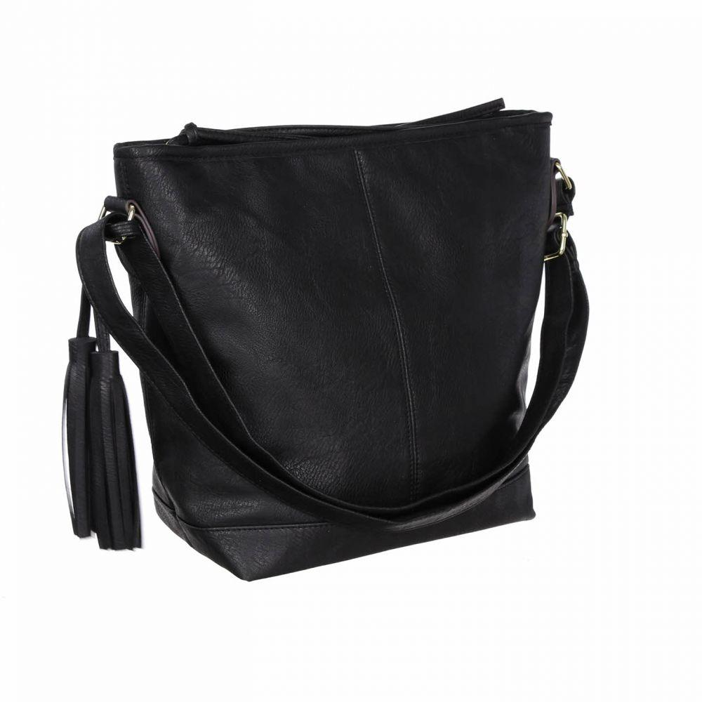 Женская сумка на ремешке Чёрная FB106