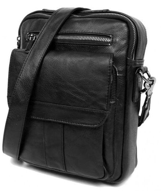 cc5472cc200a Мужской кожаный мессенджер Tiding Bag 5008A, черный — только ...